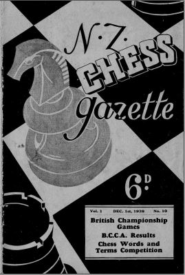NZ Chess Gazette Dec 1938