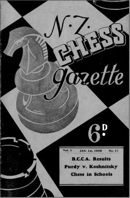 NZ Chess Gazette Jan 1939